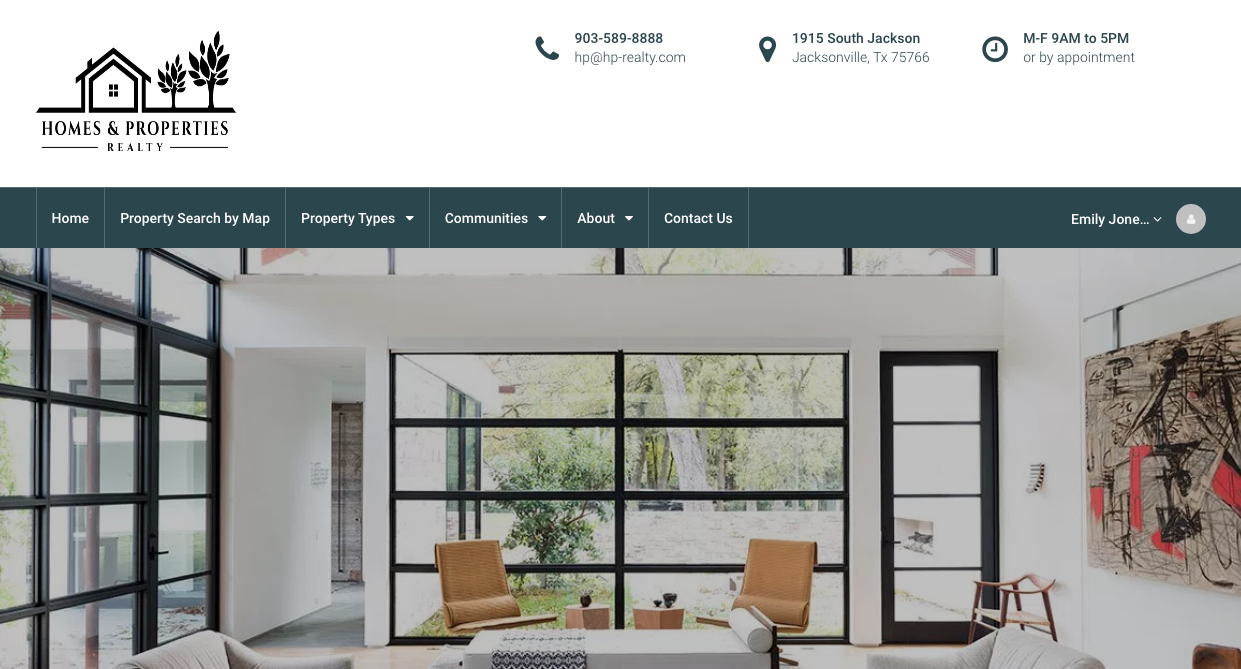Homes and Properties Realty Website Image